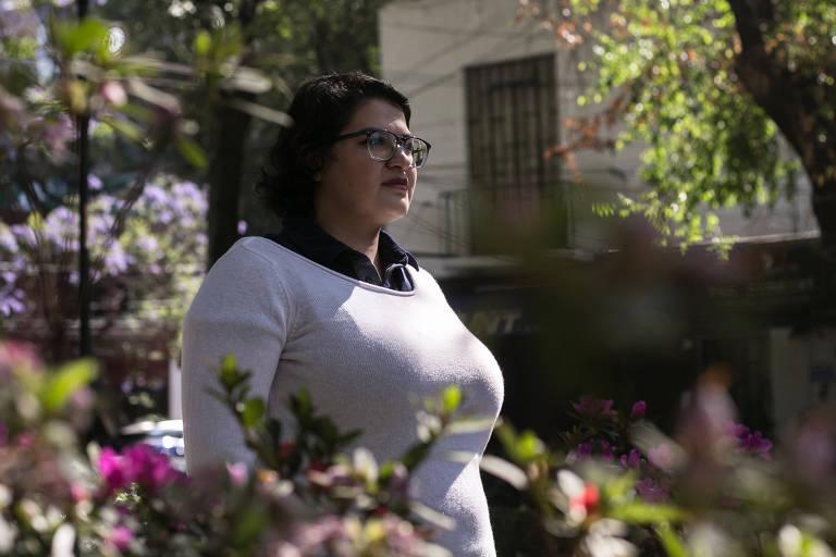 Ana Gonzalez, autora de mensagens no Twitter que inspirou outras mulheres a relatar abusos, na Cidade do México