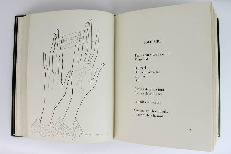 Edição rara de 'Les Mains Libres', de Man Ray e Paul Éluard