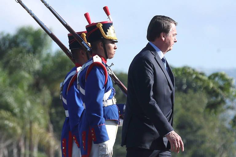 O presidente Jair Bolsonaro, que determinou celebrações do golpe de 1964