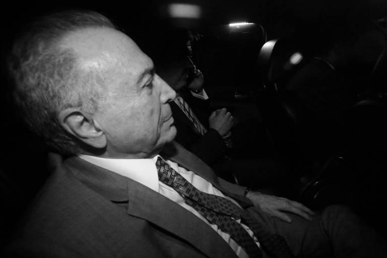 O ex-presidente da República Michel Temer chega à sua casa na capital paulista