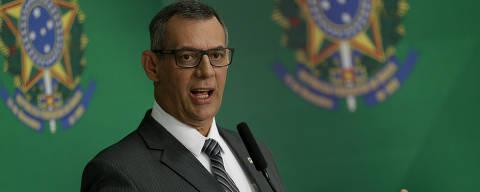 BRASILIA, DF,  BRASIL,  19-02-2019, 18h30: O porta voz do governo Bolsonaro, Otávio Rêgo Barros, durante entrevista coletiva no Palácio do Planalto. (Foto: Pedro Ladeira/Folhapress, PODER)