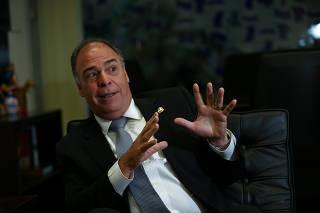 Fernando Bezerra Coelho (MDB-PE) durante entrevista em seu gabinete em Brasília