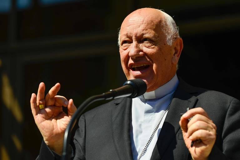 O ex-arcebispo de Santiago, Ricardo Ezzati, que renunciou após ser acusado de encobrir casos de pedofilia