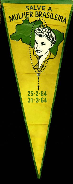Flâmula da Liga da Mulher Democrática Brasileira (LIMDE)