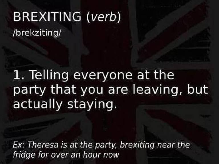 Definição de brexit vira meme