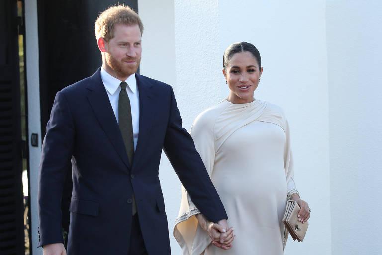 Príncipe Harry e Meghan Markle em viagem ao Marrocos