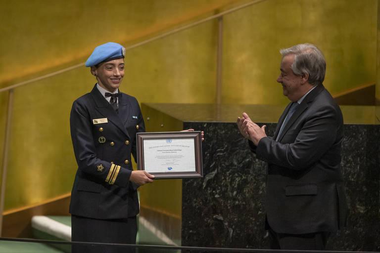 Marcia Andrade Braga recebe prêmio de gênero na ONU