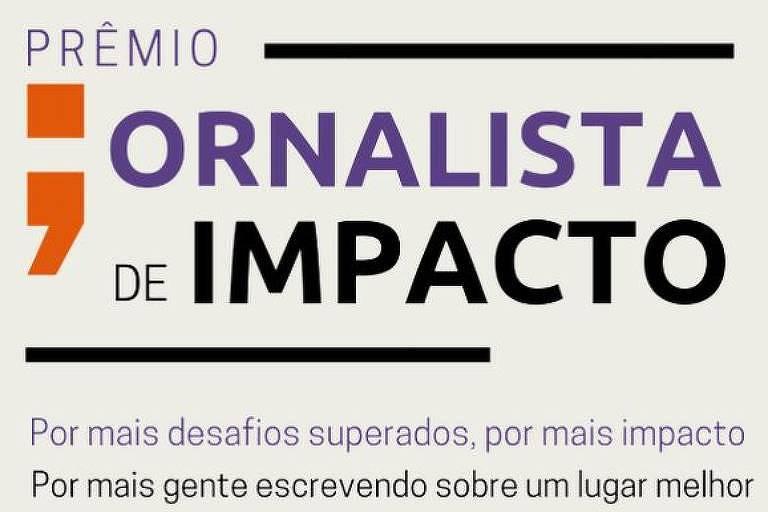Logo do Prêmio Jornalista de Impacto