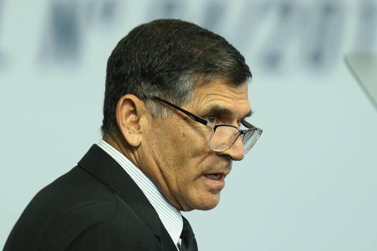 O ministro general Carlos Alberto Santos Cruz (Secretaria de Governo), durante cerimônia no Palácio do Planalto