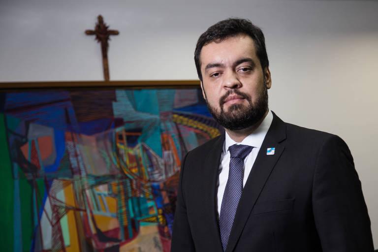 Cláudio Castro, vice-governador do Rio de Janeiro, no Palácio Guanabara