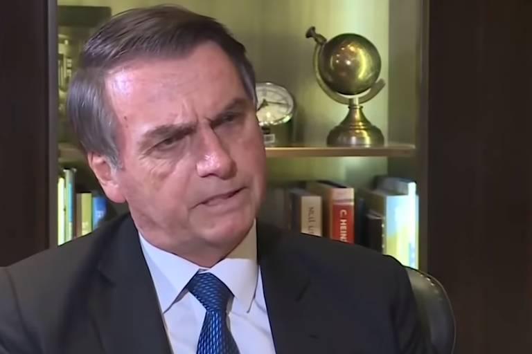 Bolsonaro em entrevista à TV Record