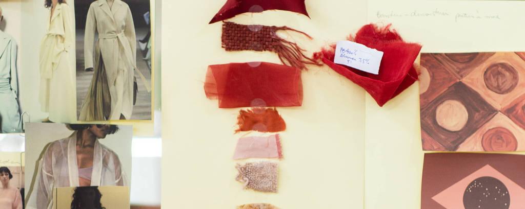 9de1dee69 lhes do processo de confecção da primeira coleção de Flavia Aranha que será  desfilada na São