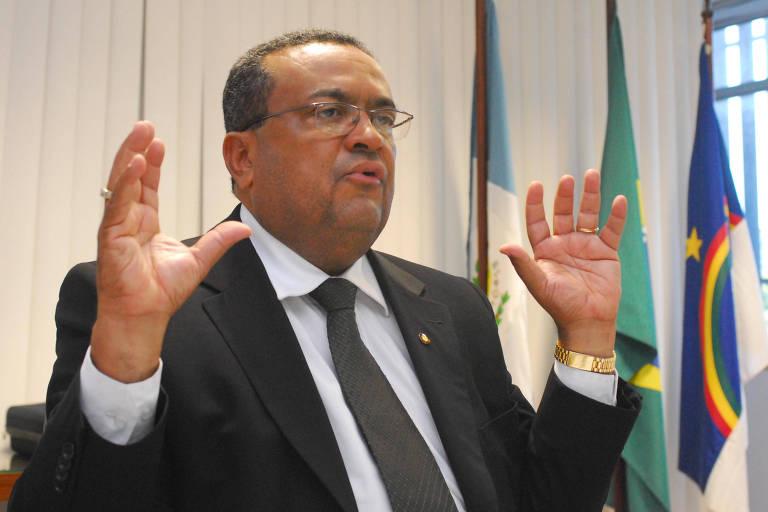 O delegado federal, em entrevista