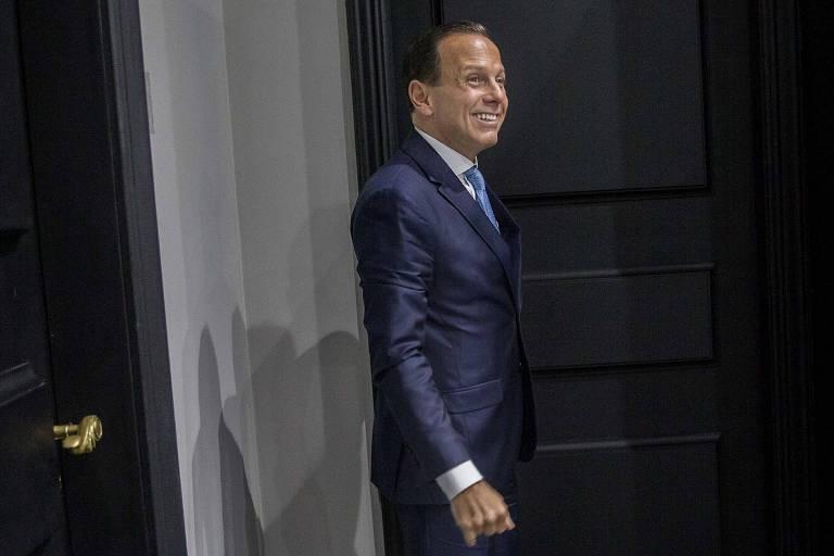 O governador de São Paulo, João Doria (PSDB), durante entrevista à Folha