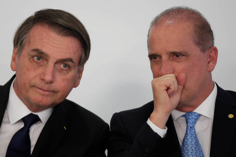 Presidente Jair Bolsonaro e o ministro da Casa Civil, Onyx Lorenzoni