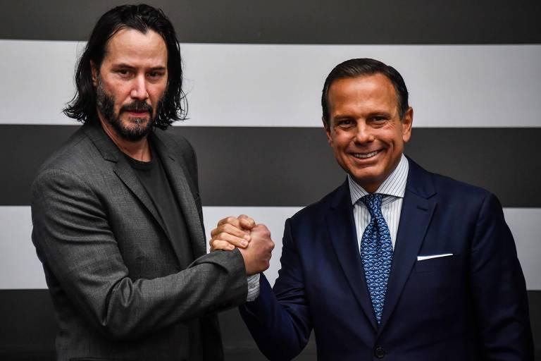 Keanu Reeves visita São Paulo para selar parceria com governo e prefeitura