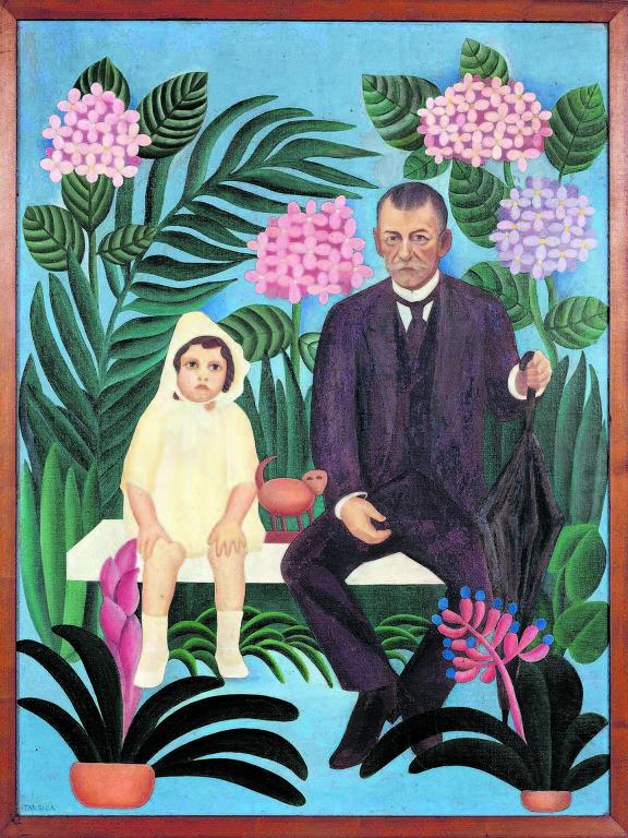 'Pastoral', tela de 1927 de Tarsila do Amaral exposta no Masp