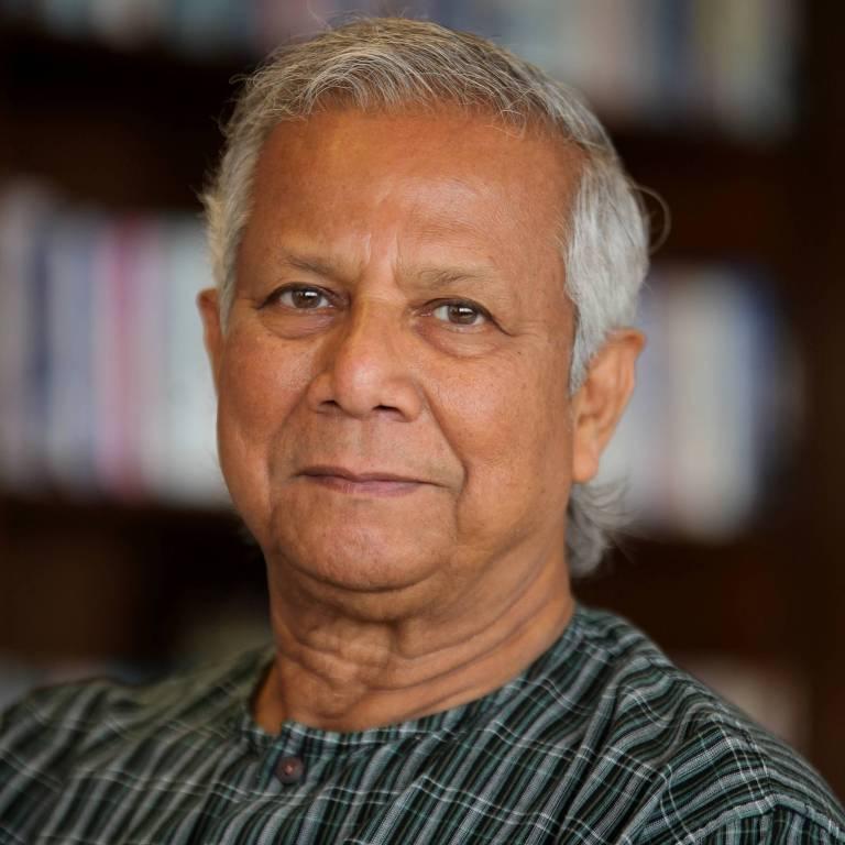 O vencedor do Nobel da Paz em 2006, Muhammad Yunus