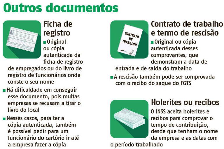 Orientação sobre documentos para comprovar tempo de contribuição ao INSS