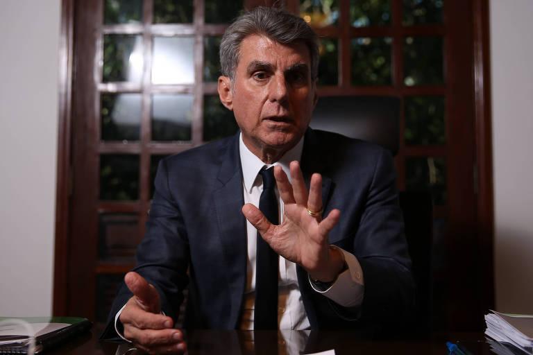 O ex-senador Romero Jucá, presidente nacional do MDB