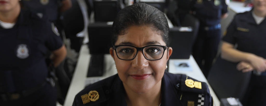 A nova comandante-geral da GCM de São Paulo, Elza Paulina de Souza