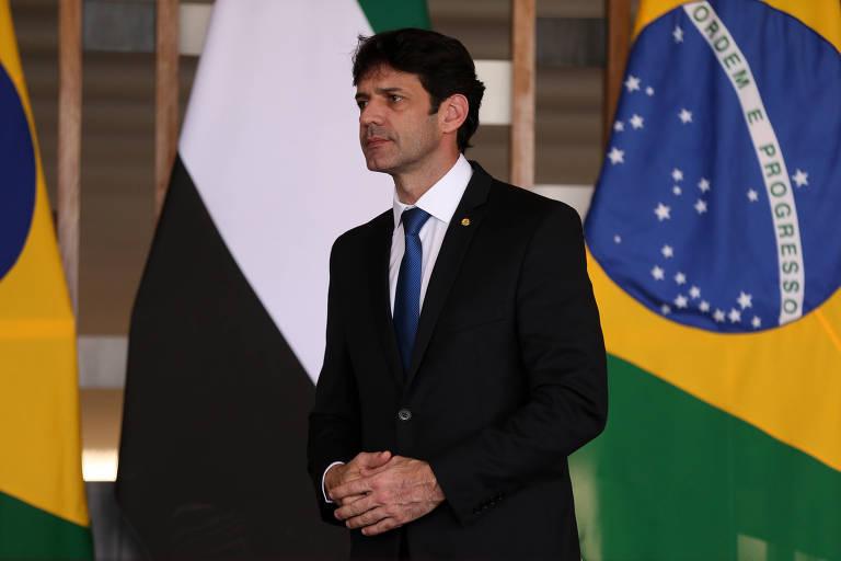O ministro do Turismo, Marcelo Álvaro Antônio, durante assinatura de atos após reunião no Palácio do Itamaraty, em março