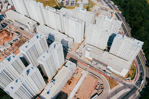 SÃO PAULO, SP, BRASIL 03.04.2019 Vista aérea do Grand Reserva Paulista, em Pirituba, na zona norte de SP (Foto: Gabriel Cabral/Folhapress)