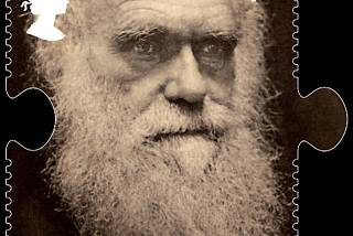 A handout photograph of a Charles Darwin postage stamp