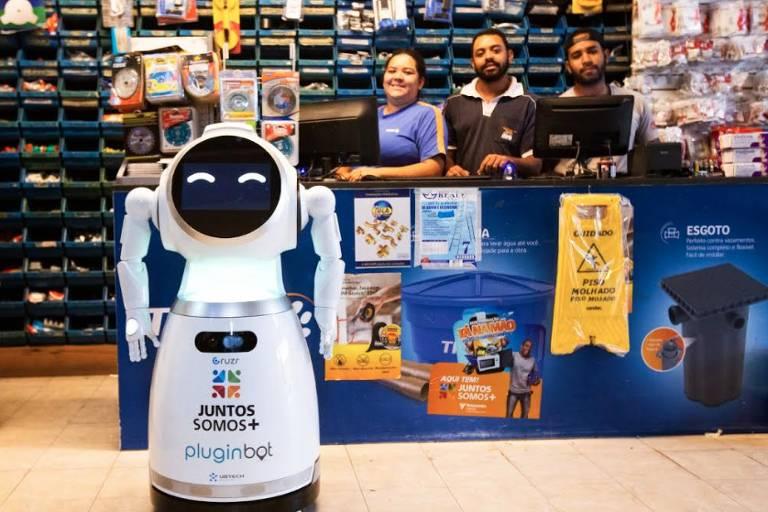 Robô vendedor da Juntos Somos Mais