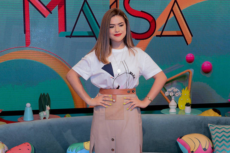 Maisa Silva em evento de divulgação do novo talk show, 'Programa da Maisa'