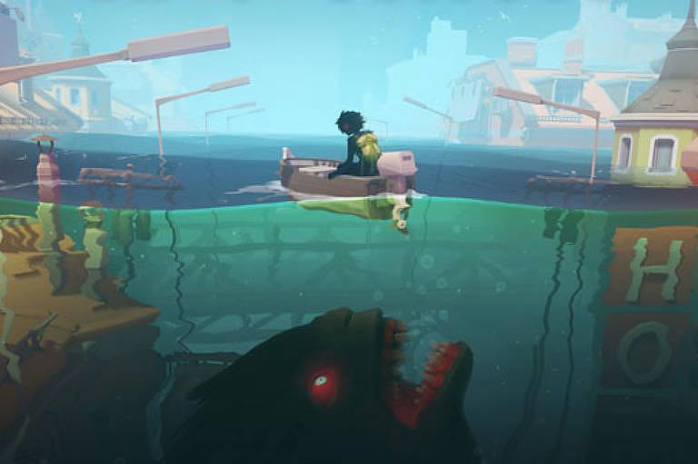 "Cena do videogame ""Sea of Solitude"""