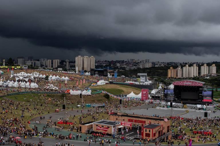 Chuva interrompe shows de sábado do Lollapalooza 2019