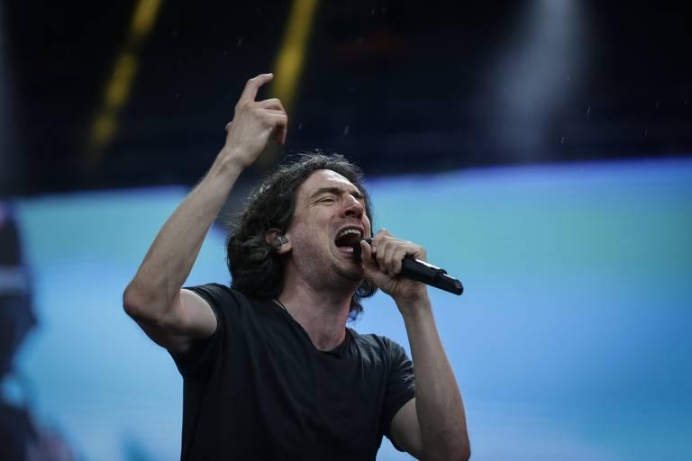 Show de Snow Patrol no palco Budweiser durante o segundo dia do festival Lollapalooza 2019