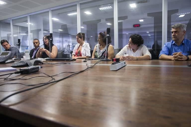 Encontro com apoiadores de Bolsonaro na Redação da Folha