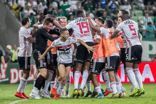 Partida entre Palmeiras e São Paulo, valido pelas semi finais do Campeonato Paulista 2019.