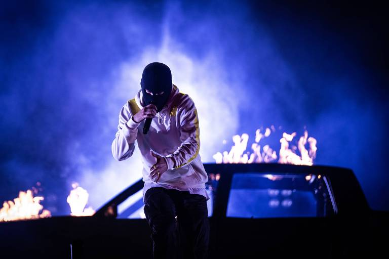 Show de Twenty one Pilots no palco Onix durante o festival Lollapalooza 2019