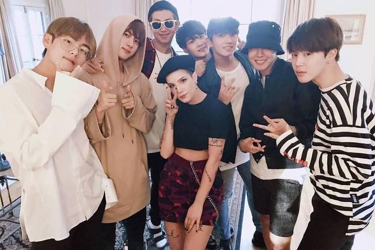 BTS anuncia parceria com a cantora Halsey