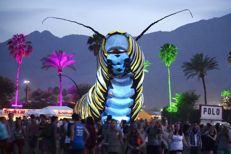 Imagem do festival Coachella em 2015