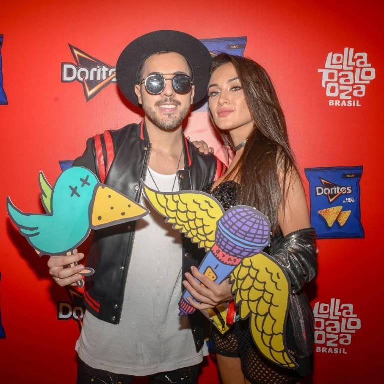 Rodrigo e Gabriela Melim no camarote da Doritos do Lollapalooza