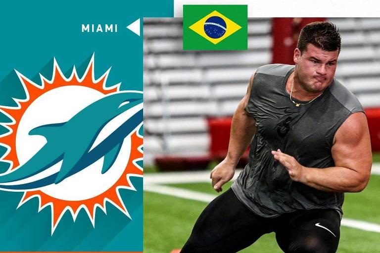 Brasileiro assina com Miami Dolphins e pode ser 2º do país na NFL