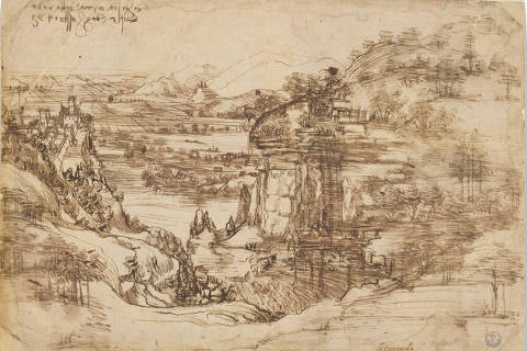 'Il Paesaggio' by Renaissance artist Leonardo da Vinci, in Florence, Italy in this handout obtained on April 8, 2019. Uffizi Gallery/Handout via REUTERS THIS IMAGE HAS BEEN SUPPLIED BY A THIRD PARTY. ORG XMIT: HFS-LEO105