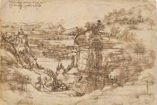 'Il Paesaggio' by Renaissance artist Leonardo da Vinci, in Florence