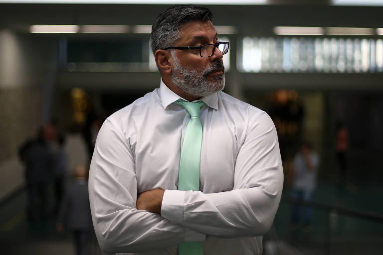 O deputado federal Alexandre Frota (PSL-SP), que critica os articuladores políticos do governo Bolsonaro e a interferência do escritor Olavo de Carvalho