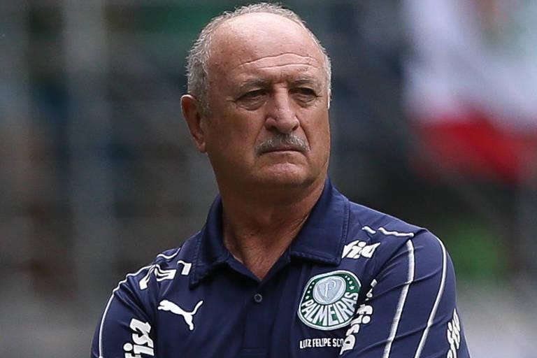O técnico Felipão tem muitos e bons jogadores à disposição no Palmeiras,  mas a equipe não consegue deslanchar