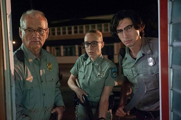 Bill Murray, Chloe Sevigny e Adam Driver em cena de 'The Dead Don't Die', de Jim Jarmusch