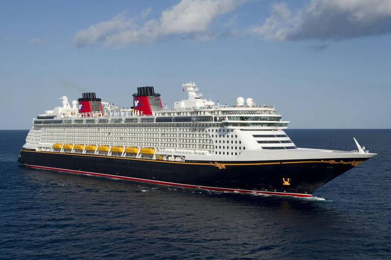 Navio Disney Dream, um dos quatro da Disney Cruise Line