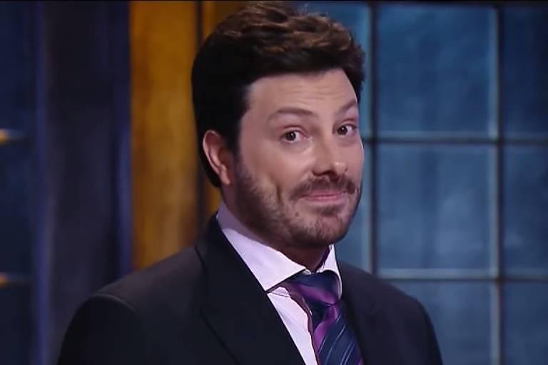 Danilo Gentili em seu programa no SBT