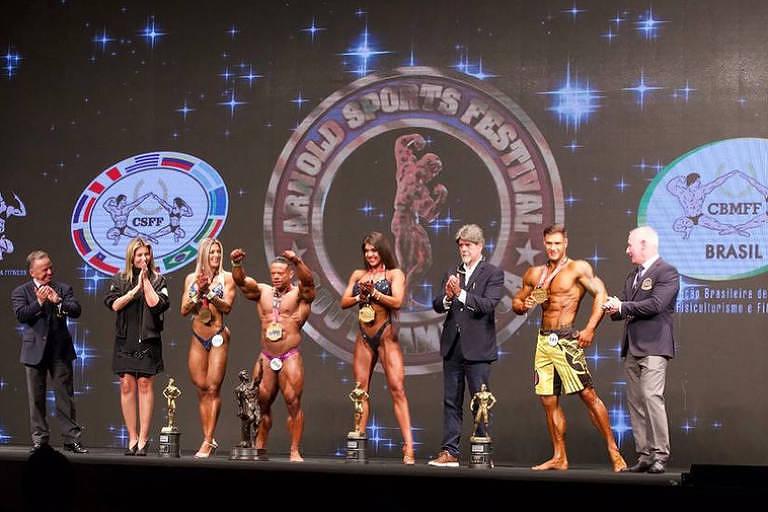 Premiação de competição de fisiculturismo no Arnold South America 2018