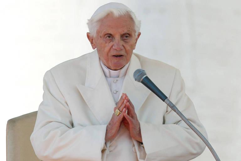 O papa emérito Bento 16 em foto de 2013 no Vaticano
