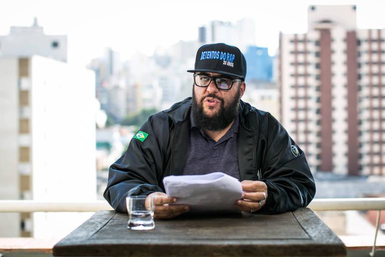 O escritor Ferréz, em São Paulo
